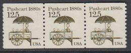 USA 1985 Pushcart 1880s 1v Strip Of 3 ** Mnh (43109I) - Verenigde Staten