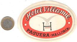 ETIQUETA DE HOTEL  - HOTEL VILLAMIE  -PAGUERA  -MALLORCA - Etiquetas De Hotel