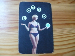 Pocket Calendar, Hungary - Lottery, Lotto, Woman - Calendarios