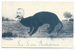 "17-ROCHEFORT-SUR-MER-Carte Caricature ""La Loutre Rochefortaise""...Pierre Loti - Rochefort"