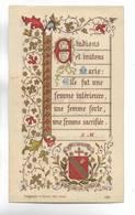 Souvenir D' Adieu. Anna . . . .  Enfant De Marie. Pensionnat De Ste-Chrétienne De Longuyon - 1888-1895 - Celluloïd ? - Images Religieuses