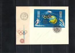 Hungary / Ungarn 1972 Olympic Games Sapporo Michel Block 89A FDC - Winter 1972: Sapporo