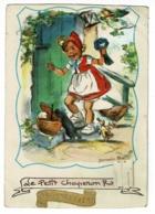 Carte Illustrée à Système (animée à Tirette) Le Petit Chaperon Rouge - Bonne Fête - Germaine Bouret - Circ Sans Date - Bouret, Germaine