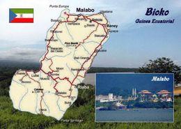 1 Map Of Guinea Ecuatorial * 1 Ansichtskarte Mit Der Landkarte Der Insel Bioko - Im Kleinen Bild Die Hauptstadt Malabo * - Landkarten