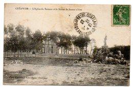 50 - Manche / CREANCES -- L'Eglise Du Buisson Et La Statue De Jeanne D'Arc. - Autres Communes