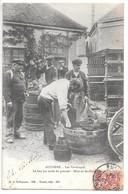 Cpa...Auxerre..les Vendanges..le Bon Jus Coule Du Pressoir...mise En Feuillettes...animée....1904...(gros Plan) - Auxerre