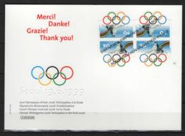 Svizzera 2006 Sion Post Card Con 4 Val. Non Emessi Del 1999 / 1999 4 Val.not Issued VF - Svizzera