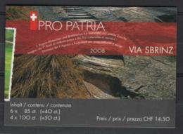 Svizzera 2008 Pro Patria Libretto / Booklet **/MNH VF - Svizzera