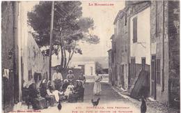 PONTEILLA  -  RUE DE PAVES ET GROUPE DE CATALANS - Frankrijk