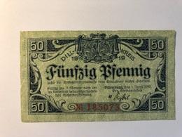 Allemagne Notgeld Dill 50 Pfennig - [ 3] 1918-1933 : République De Weimar
