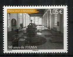 ANDORRA.FHASA/FEDA.(Forces Hidroelèctriques D'Andorra) 90 Ans. Un Timbre Neuf ** 2019 - Nuovi