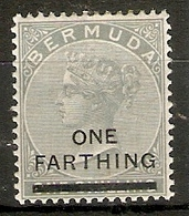 BERMUDA 1901 ¼d  On 1s SG 30 MOUNTED MINT Cat £5 - Bermuda