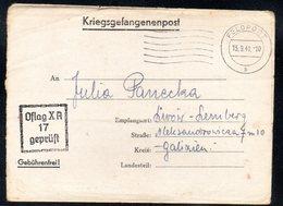 KRIEGSGEFANGENENPOST NAZI GERMANY THIRD REICH WW2 PRISONER WAR POW CAMP OFLAG XA ITZEHOE TO LEMBERG LWOW LVIV GG UKRAINE - Gevangenkampen
