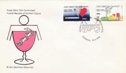 Türkisch-Zypern, 1990, 271/72, Welt-Gesundheitstag. World Health Day. FDC - Covers & Documents