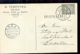 Nijland - Bakkerijk - H Terpstra - 1914 - Lettres & Documents