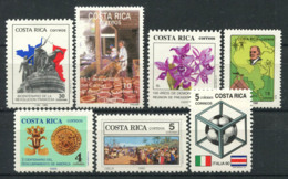 Costa Rica 1989-90 MNH 100% French Revolution, Map, America - Costa Rica