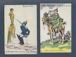Lot 2 Cartes Humoristiques Sur La Guerre 1914 1918 - Humoristiques