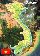 1 Map Of Vietnam * 1 Ansichtskarte Mit Der Landkarte Von Vietnam * - Landkarten
