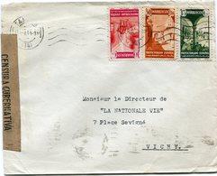 MAROC ESPAGNOL LETTRE CENSUREE DEPART TANGER 23 MAR 43 POUR LA FRANCE - Spanish Morocco