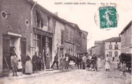 55 - Meuse - SAINT AUBIN Sur AIRE - Rue De Saulx - Tabac - France