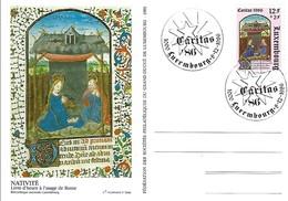 8.12.1986  -  Adoration Des Rois Mâges  Livre D'heure à L'usage De Rome- Timbre Caritas - Impr.Fr.Faber - FDC