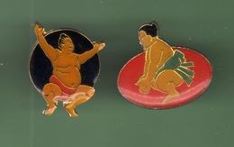 SUMO *** Lot De 2 Pin's Differents *** 1018 - Judo