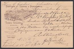 CPA  Suisse, ZURICH, Frederic Steinfels, Fabrique De Savons & Parfumerie, 1897 - ZH Zurich
