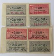 Steuermarken Deutsche Wechselsteuer Zehn Goldpfennig, Eine Goldmark 1925♥(63452) - Non Classés