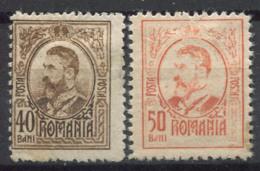 Romania 1918 Mi. 241-242 MH 60% King Charles I - 1881-1918: Charles I