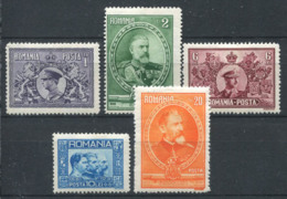 Romania 1931 Mi. 397-401 MH 40% King Charles, King Ferdinand - 1918-1948 Ferdinand, Charles II & Michael