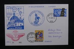 BELGIQUE - Enveloppe Par Ballon En 1989, Voir Cachets  - L 31924 - Belgium