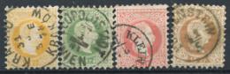 Austria 1867 Mi. 35,36,37,39 Used 100% Francis Joseph - 1850-1918 Empire