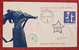 MARIBOR, RIBNICA NA POHORJU, DAN JNA, KURIRSKA PARTIZANSKA POŠTA - 1945-1992 Socialist Federal Republic Of Yugoslavia