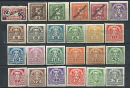 Austria 1920 Mi. 247,254,293-311 MH 100% Mythology, Mercury Overprinted - Unused Stamps
