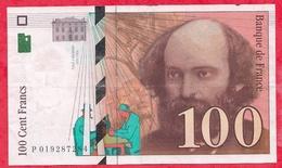 """France 100 Francs """"Cézanne """" 1997----VG/TTB+---N °P.019287284 - 1992-2000 Dernière Gamme"""