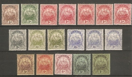 BERMUDA 1922 - 1934 WATERMARK MULTIPLE SCRIPT CA SET OF 18 STAMPS SG 77/87 (LIGHTLY) MOUNTED MINT MINIMUM Cat £204+ - Bermuda