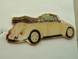 PIN'S VOLKSWAGEN COX DECAPOTABLE - GRAND MODELE : L = 55mm - Volkswagen