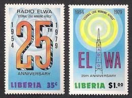 LIBERIA 1979 - Radio ELWA 25th Anniversary, Complete Set Of 2v MNH - Liberia