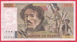 "France 100 Francs ""Delacroix"" 1979----VF/SUP---ALPH T.21 - 1962-1997 ''Francs''"