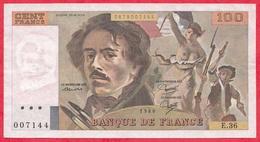 "France 100 Francs ""Delacroix"" 1980----VF/SUP---ALPH E.36 - 1962-1997 ''Francs''"