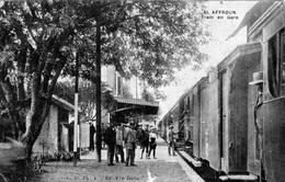 ALGERIE TOP  - EL AFROUN - LE TRAIN EN GARE EN 1921 BB-900 - Autres Villes