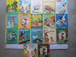 14 Livres (bibliothèque Roses ) Walt Disney + 3 En Double - Magazines