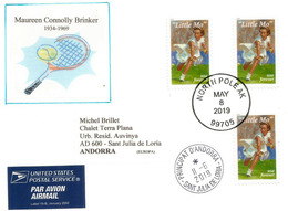 "American Tennis ""Little Mo"", Winner Of Nine Grand Slam Singles:French Open Australian Open Wimbledon US Open.Letter 2019 - Tennis"