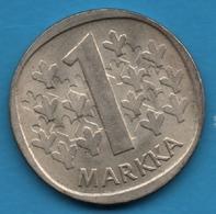 SUOMI FINLAND 1 MARKKA 1964 KM# 49 Argent 350‰ Silver - Finland