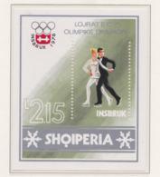 Albania 1976 Innsbruck Olympic Games Souvenir Sheet MNH/** (H54) - Winter 1976: Innsbruck