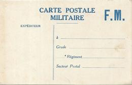 Carte Postale Militaire.Franchise Militaire - Militaria