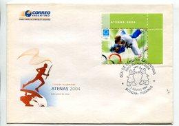 JUDO - ATENAS 2004, JUEGOS OLIMPICOS. ARGENTINA AÑO 2004 SOBRE PRIMER DIA ENVELOPE FDC -LILHU - Martial