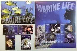 # Nevis 2003**Mi.1931-39  Sea Life , MNH [17 II;27] - Meereswelt