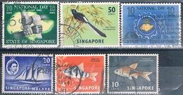 Singapur 1955 / 63  -  Michel  34 + 52 + 55 + 59 + 65 + 70  ( Usados ) - Singapur (1959-...)