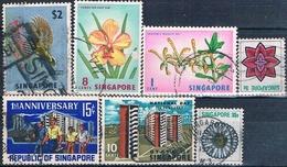 Singapur 1973  -  Michel  53 + 58 + 67 + 71 + 74 + 193 + 199  ( Usados ) - Singapur (1959-...)